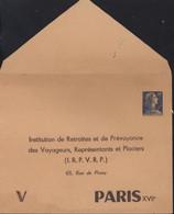 Entier Muller 20F Bleu T.S.C Enveloppe Privée IRP VRP 155x121 Papier Chamois Paris XVII Neuve Cote 75 € - Sobres Tipos Y TSC (antes De 1995)