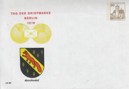 PU  68/13**  Tag Der Briefmarke Berlin 1978 - Reinickendorf - Sobres Privados - Nuevos