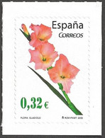 Spain - Flora And Fauna (part 2) - Gladiolus (Gladiolus Sp.), Self-adhesive Stamp, MINT, 2009 - Sonstige