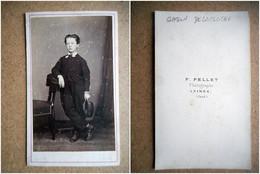 PHOTO CDV 19 EME GASTON DELACLOCHE JEUNE HOMME CHIC MODE   Cabinet  PELLET A  NIMES - Old (before 1900)