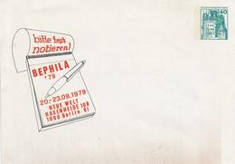 PU  70/8** Bitte Fest Notieren! BEPHILA'79 20.-23.9.1979 Neue Welt Hasenheide 1000 Berlin 61 - Sobres Privados - Nuevos