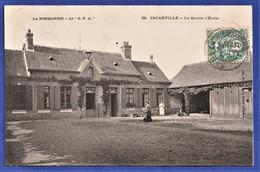 """CPA 27 INCARVILLE - La Mairie, L'Ecole - LA NORMANDIE - La """"C.P.A."""" - Other Municipalities"""