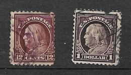 USA  Etats-Unis N° 189 Et 194    Oblitérés  AB/ 2ème Choix  Soldé à Moins De 5 %     Le Moins Cher Du Site   ! ! ! - Used Stamps
