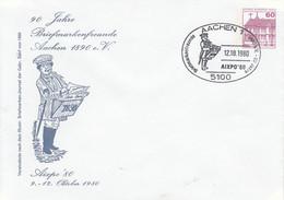PU 75/8   90 Jahre Briefmarkenfreunde Aachen 1890 E.V. Aixpo `80  9.-12.Oktober 1980, Aachen 1 - Sobres Privados - Usados