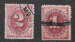 USA  Etats-Unis  Taxe  N° 1  Et 2   Oblitérés  B/TB  Soldé à Moins De 10  %    Le Moins Cher Du Site   ! ! ! - Used Stamps