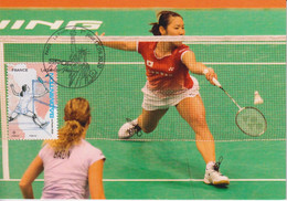 CM-Carte Maximum Card # 2020-France # Sport #  Badminton   # Paris - Badminton