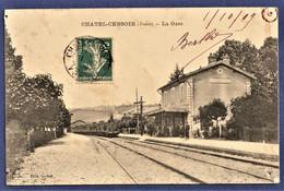 CPA 89 CHATEL CENSOIR (Yonne) - La Gare - Sonstige Gemeinden