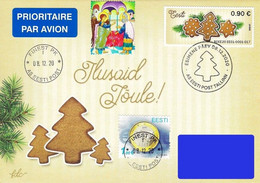 Estonia Estland Estonie 2020 (28) - ATM Franking Stamp - Christmas (addressed FDC) - Estland