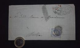 España 1871 Frontal - Edifil 107 Gobierno Provisional - Madrid - Bilbao - Spain - Espagne - Briefe U. Dokumente