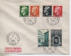 1951 MONACO FDC  RADIO RAINIET ET MONUMENTS   TIMBRE N° YVERT ET TELLIER  365/8 ET  369/0 - Cartoline Maximum