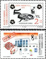 Turkey Northern Cyprus  2020 COVID -19 Stamp Set Of 2v - Enfermedades