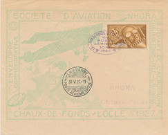 Schweiz - 1927 - 35c Luftpost On NHORA Ganzsache Chaux-de-Fonds -- Locle - Ganzsachen
