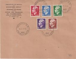 """MONACO : AFFRANCHISSEMENT A 36.50 F . OBL .  """"  MONACO - O - E  """" . 1950 . - Storia Postale"""