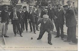 PARIS - Jeux De Boules, Rue Olivier-de-Serres - CARTE POSTALE ANCIENNE POSTEE EN  1914 - JAMAIS VUE EN VENTE - District 15