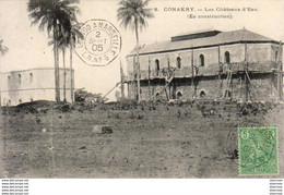 GUINÉE  CONAKRY  Les Châteaux D'Eau ( En Construction )   ..........  Très Bon état - Französisch-Guinea