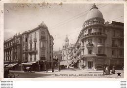 MONACO MONTE CARLO BOULEVARD DU NORD  .............. Carte Peu Courante - Monte-Carlo
