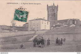 D66  PERPIGNAN  L'Église Saint Jacques  ... Carte Peu Courante - Perpignan