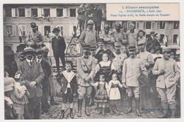 AR60 Guerre 14-18 MASSEVAUX MASEVAUX Foule Concert Alsace Reconquise 13 Homeyer Ehret -BIRH Ficellerie Cablerie Est - Guerra 1914-18