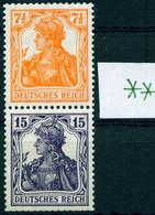 """Deutsches Reich 1917 Michel-#  S 8 ** Fein  """" Zusammendruck Germania  7 1/2 + 15 Pfg  """" Michel 125 € - Zusammendrucke"""