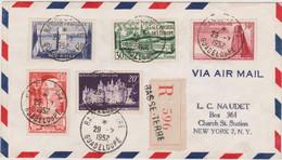 FRANCE 1952 Env Recom PA De Guadeloupe N-York (USA) Div Aff. N°YT 922, 923, 924, 925, Et 926 Cachet Basse Terre 29.71952 - Air Post