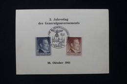 POLOGNE / ALLEMAGNE - Carte Philatélique Des Generalgouvernements De Krakau En 1941 - L 83245 - Gobierno General