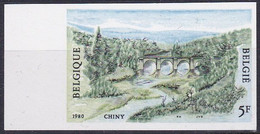B01-248 1991 Timbre Non Dentelé Ongetand N° 91 Tourisme Chiny Pont Saint Nicolas - Imperforates