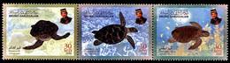 (077) Brunei  Animals / Turtles / Tortues / Schildkröten  ** / Mnh  Michel 595-597 - Brunei (1984-...)
