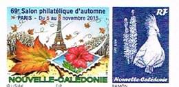 Nouvelle Caledonie France Timbre Personnalise 69 Salon Automne Eiffel Hibiscus Normal Sans Mention 110 F Unc - Neufs