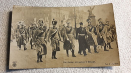 Postkarte Der Kaiser Mit Seinen 6 Söhnen Portrait 1 WK Militär Kaiser Wilhelm Uniformen - 1914-18