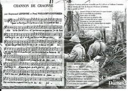 Musique Chanson De CRAONNE - Guerre 14/18 Chemin Des Dames - War 1914-18