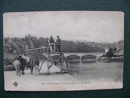Cpa 1915 PERIGUEUX  Pont Des Barris Vu Des Quais Animation - Périgueux