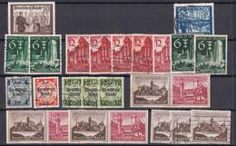 Deutsches Reich - 1939 - Sammlung - Gestempelt/Ungebr.m.Falz/Postfrisch - Gebruikt