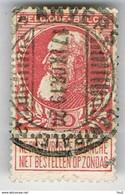 N° 74 10c Karmijn  Antwerpen 17-09-1908 - 1905 Breiter Bart