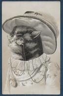CHAT - Carte Gaufrée - Katzen