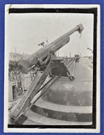 PHOTO ORIGINALE 54 FORT DE BRULEY - Pièce Contre Aéro - Campagne 1914-1915 - WWI - Krieg, Militär