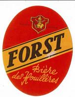 Ancienne étiquette Brasserie  Des Houillères à Allouagne 62 - Bière