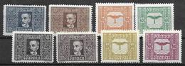 1922-24 Austria Mnh ** Complete Set 45 Euros - Nuevos