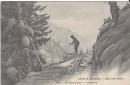 74 CHAMONIX MONT BLANC SPORTS D HIVER SAUT D UN SKIEUR Editeur TAIRRAZ 628 - Chamonix-Mont-Blanc