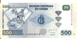 CONGO 500 FRANCS 2013 UNC P 96 B - Sin Clasificación