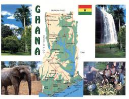 (CC 15) Ghana (with Map & Elephant) - Landkaarten