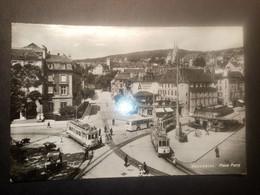 "11097""NEUCHATEL-PLACE PURRY"" ANIMATA-TRAMWAY-FILOBUS-VERA FOTO-CART SPED 1948 - NE Neuchatel"