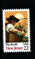 UNITED STATES/USA - 1987  NEW JERSEY  MINT NH - Unused Stamps