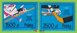 Voyo POLAND Winter Olympic Games Albertville  1992 M#3369-70 ** MINT Set  SPORT - Unused Stamps