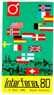 """Schweiz Suisse Switzerland Basel Bale Basilea 1980 """" INTERFEREX 80 Exposition """" Vignette Cinderella Reklamemarke - Cinderellas"""
