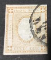 1862 - REGNO - STAMPATI - 2 CENT.- 10a - USATO - SIGNED - SPL - Euro 160,00 - Oblitérés