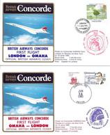CONCORDE British Airways G-BOAG. Premier Vol LONDRES-OMAHA-LONDRES  13-14 Juin 1985 - Concorde