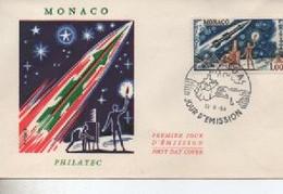 1964  MONACO FDC  RADI    PHILATEC  COSMOS .N° YVERT ET TELLIER    PAV 63 - Cartoline Maximum