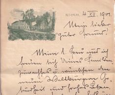 3535 - Österreich - Wien , Alt-Erlaa , Brief V. 1901 - - Cartas