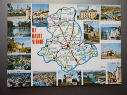Carte Du Département De La Haute-Vienne Avec Vues Multiples - Non Classés