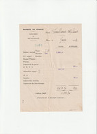 63-A.Fouilhoux..Fiche De Paie Banque De France..Vic-le-Comte...(Puy-de-Dôme)...1940 - Altri